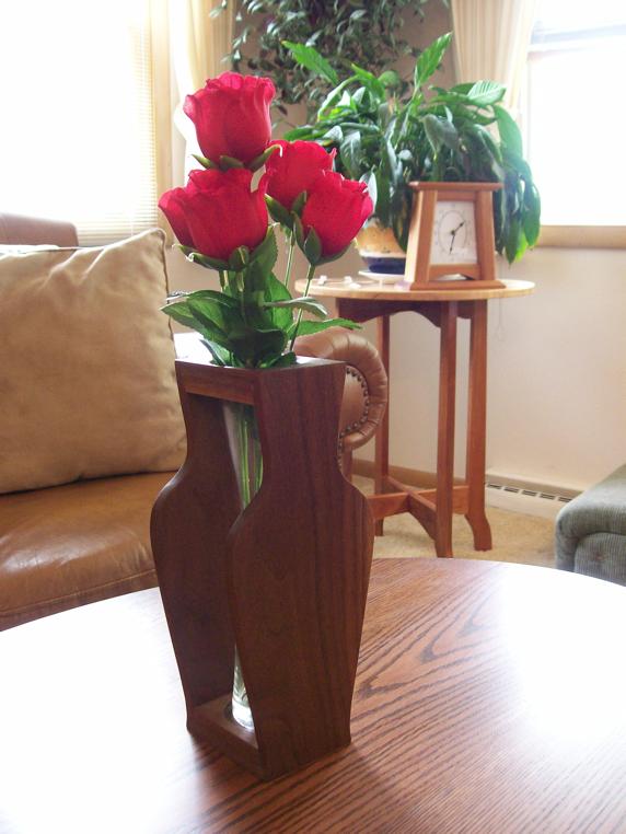 Walnut Flower Vase Providence Workshop